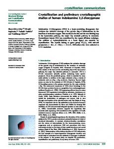 crystallization communications Crystallization and ...