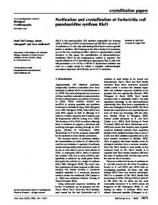 crystallization papers Purification and crystallization of ...