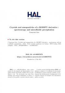 Crystals and nanoparticles of a BODIPY derivative