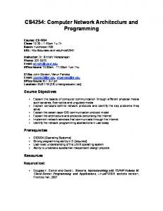 CS4254: Computer Network Architecture and Programming