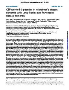 CSF amyloid-b-peptides in Alzheimer's disease, dementia with Lewy ...