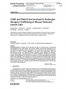 CSN6 and Rab34 Are Involved in Androgen Receptor Trafficking in ...