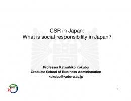 CSR in Japan - EESC European Economic and Social Committee
