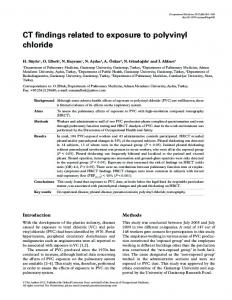 CT findings related to exposure to polyvinyl chloride - Oxford Journals