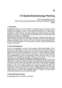 CT-Guided Brachytherapy Planning