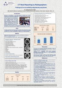 CT Head Reporting by Radiographers