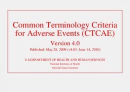 CTCAE - EVS - National Institutes of Health