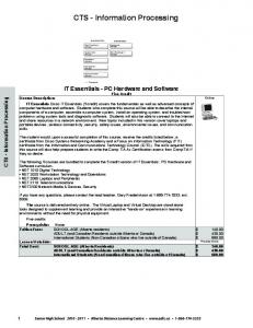 CTS - Information Processing