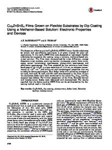 Cu2ZnSnS4 Films Grown on Flexible Substrates by Dip Coating Using ...