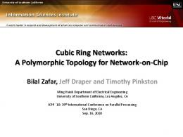 Cubic Ring Networks: A Polymorphic Topology for ... - Semantic Scholar