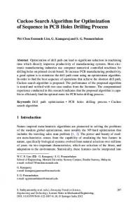 Cuckoo Search Algorithm for Optimization of Sequence ... - Springer Link