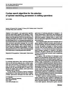 Cuckoo search algorithm for the selection of optimal ... - Springer Link