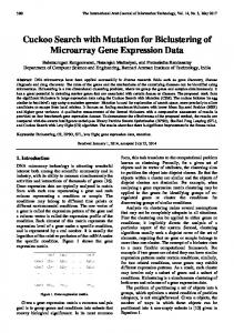 Cuckoo Search with Mutation for Biclustering of Microarray Gene ...