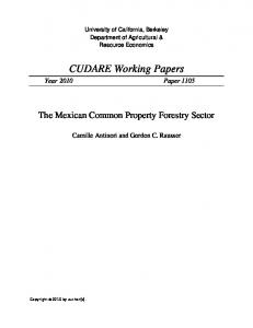 CUDARE Working Papers - AgEcon Search