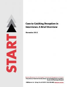 Cues to Catching Deception in Interviews: A Brief Overview