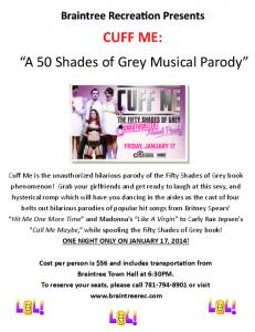 "CUFF ME: ""A 50 Shades of Grey Musical Parody"""