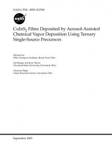 CuInS2 Films Deposited by Aerosol-Assisted Chemical Vapor ...
