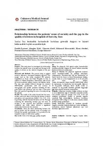 Cukurova Medical Journal Relationship between the ... - DergiPark