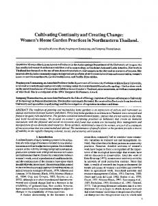 Cultivating continuity and creating change: Women's ... - Springer Link