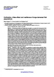 Cultivation, Allee effect and resilience of large demersal fish populations