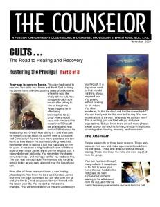 CULTS . . . - The Christian Counselor