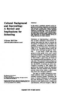 Cultural Background and Storytelling: A Review and