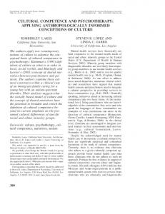 cultural competence and psychotherapy: applying ... - USC Dornsife