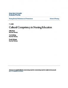 Cultural Competency in Nursing Education - Boise State Scholarworks