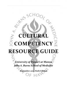 cultural competency resource guide