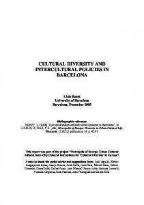 cultural diversity and intercultural policies in barcelona