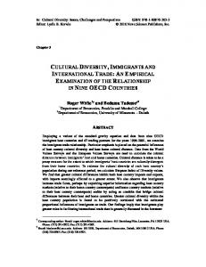 cultural diversity, immigrants and international trade