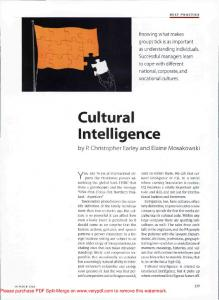 Cultural Intelligence - ACGMoscow