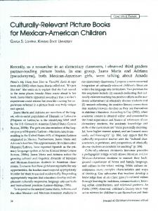 Culturally-Relevant Picture Books for Mexican ...
