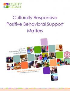 Culturally Responsive Positive Behavioral ... - The Equity Alliance
