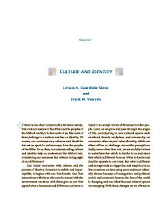 culture and identity - Fortress Press
