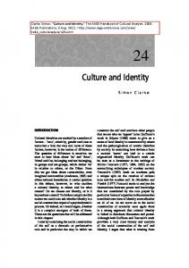 Culture and Identity - Sage