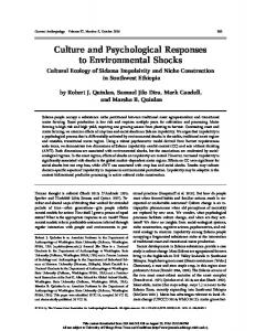 Culture and Psychological Responses to
