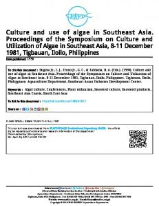 Culture and Use of Algae in Southeast Asia