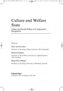 Culture and Welfare State - CiteSeerX