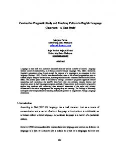 Culture in English Language Teaching