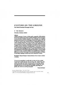CULTURE ON THE GROUND - New York University