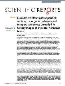 Cumulative effects of suspended sediments ... - Semantic Scholar