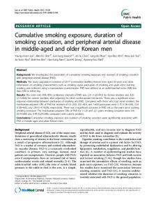 Cumulative smoking exposure, duration of ... - Semantic Scholar