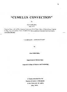 cumulus convection - Alan Betts