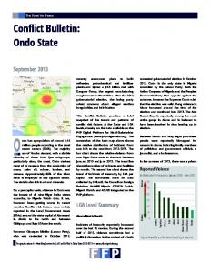 CUNGR1316 - Nigeria Conflict Bulletin - Ondo State (09B) - Library