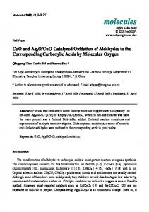 CuO Catalyzed Oxidation of Aldehydes to the