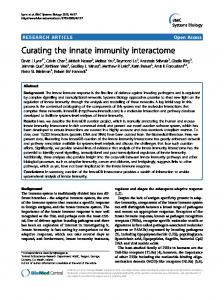 Curating the innate immunity interactome