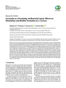 Curcumin as a Promising Antibacterial Agent: Effects on Metabolism ...