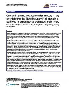 Curcumin attenuates acute inflammatory injury by ... - BioMedSearch