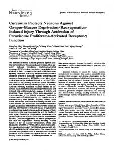 Curcumin protects neurons against ... - Wiley Online Library